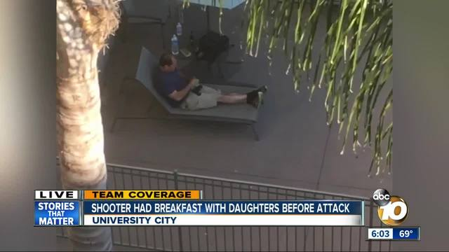 Shooter had breakfast with daughters before attack