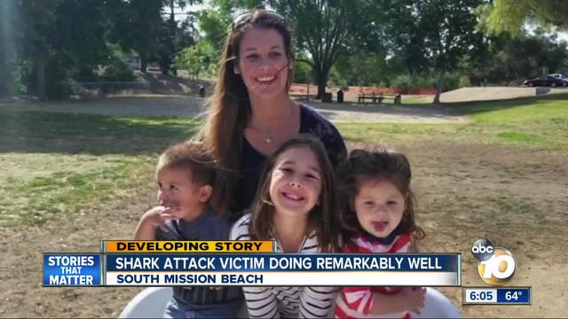 California shark attack victim doing 'remarkably well'