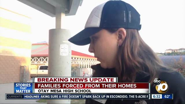 Families forced from homes