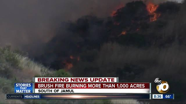 Brush fire burning more than 1-000 acres