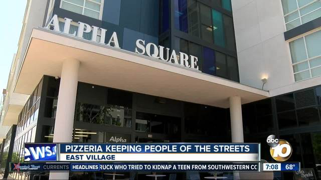 San Diego pizzeria keeping people off the streets
