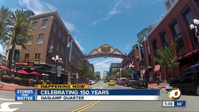 Gaslamp Kicks Off 150th Anniversary Celebration 10news
