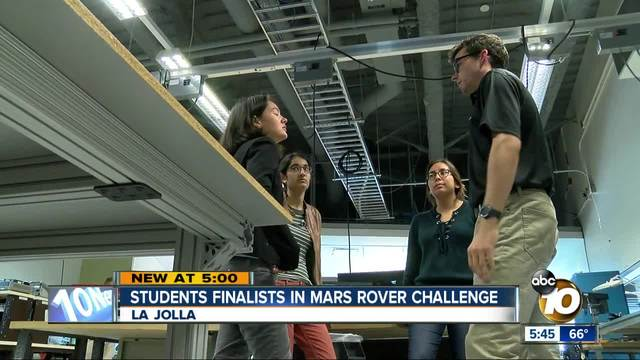 UC San Diego students finalists in Mars rover challenge