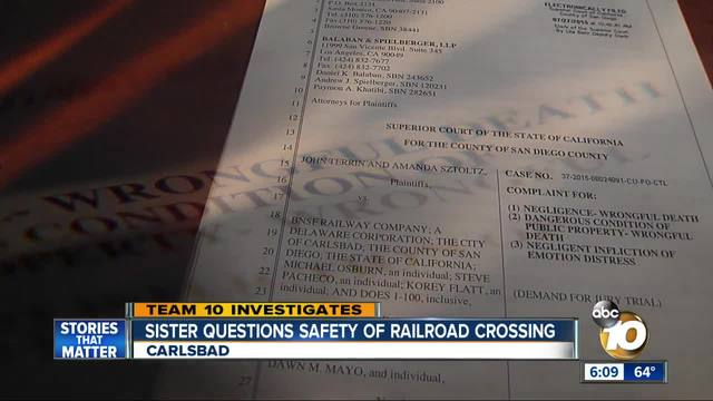 Sister questions safety of Carlsbad railroad crossing