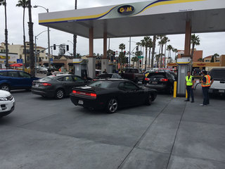 Military vets line up for free gas in Oceanside