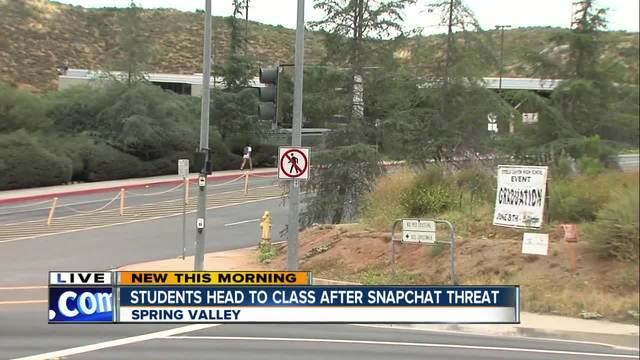 Threat made on Snapchat against Steele Canyon HS