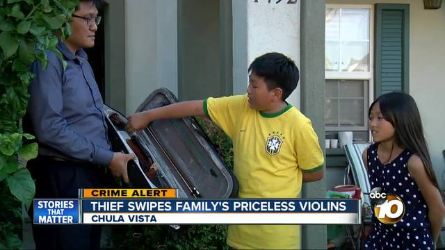 Thief swipes family-s priceless violins