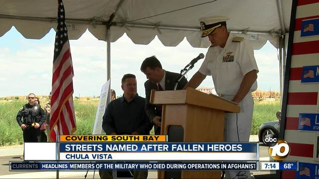 Chula Vista streets named after fallen heroes