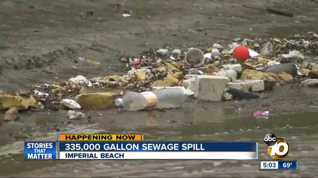335-000 gallons of sewage spill into Tijuana River Valley