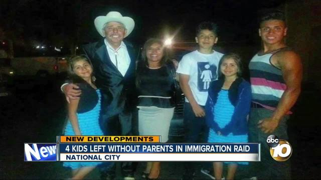 4 kids left without parents in immigration raid
