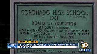 Teens at Coronado High left without prom tickets
