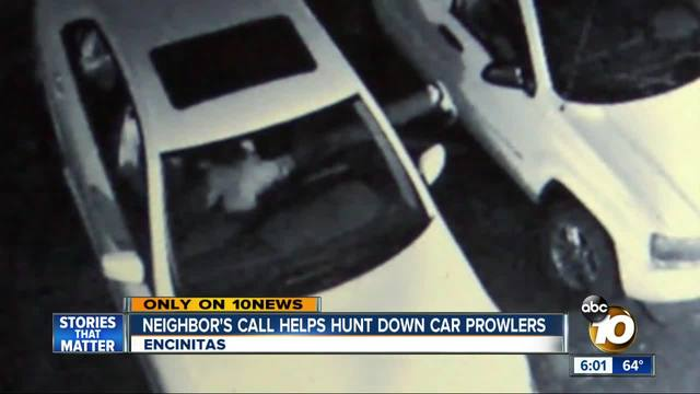 Neighbor-s call helps hunt down car prowlers