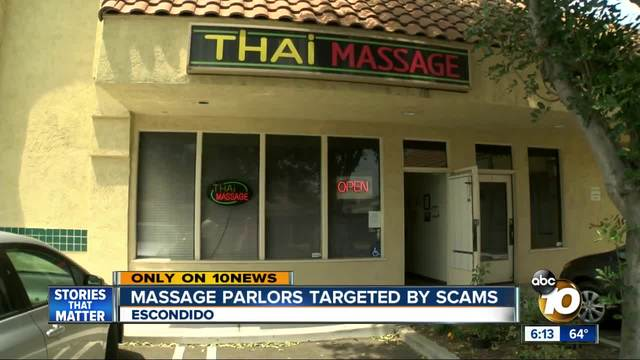 Massage parlors targeted by scams