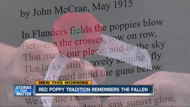 Red poppy tradition remembers the fallen