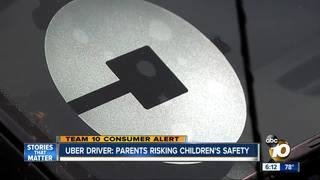 Uber driver: Parents are risking child safety
