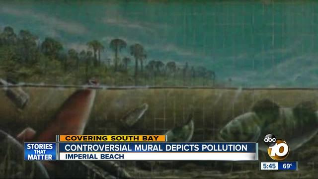 Controversial mural depicts pollution
