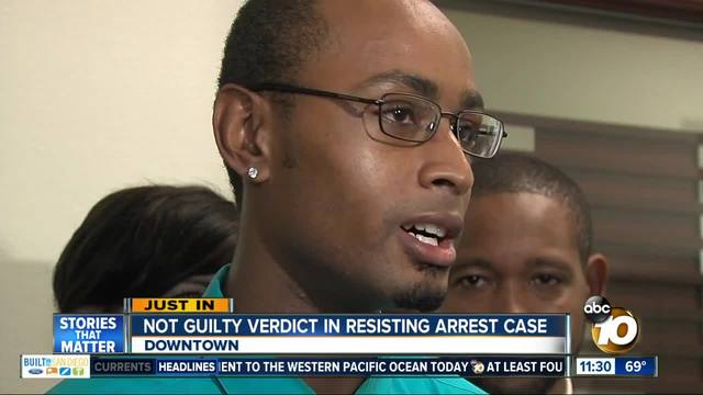 Not guilty verdict in resisting arrest case