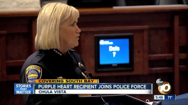 Purple Heart recipient joins Chula Vista police force