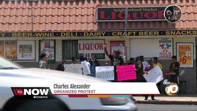 Community activists protest local liquor store in Barrio Logan
