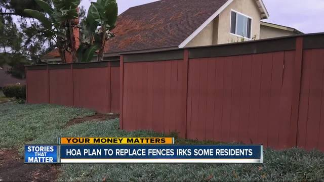 Residents say HOA-s fence plan costing them