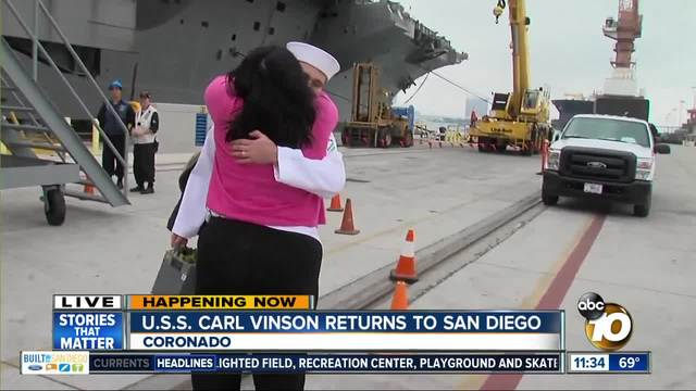 Mom reunites with son upon his return from deployment