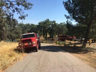 Black Fire threatens homes east of Ramona