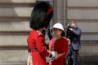 First woman leads UK Changing of the Guard