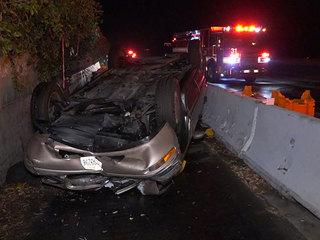 Driver falls asleep at wheel, crashes off I-8