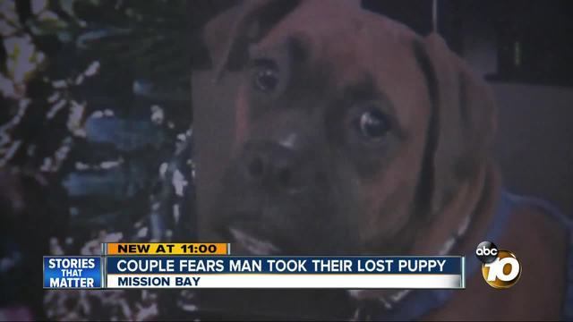Couple fears man took their lost puppy