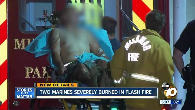 Two Marines severely burned in flash fire on base