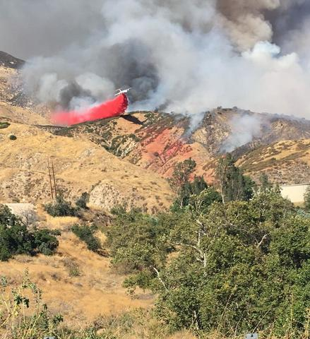 Evacuations ordered for fire on California coast
