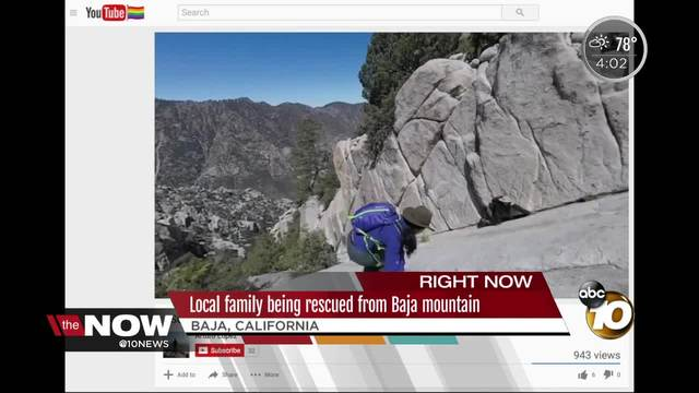 San Diego family being rescued from Baja mountain