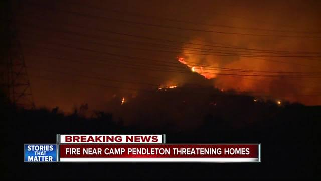 Camp Pendleton Wildland Fire Reaches 700 Acres, No Evacuations Mandated