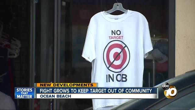 Fight grows to keep target out of Ocean Beach