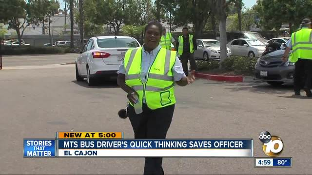 MTS bus driver-s quick thinking saves officer