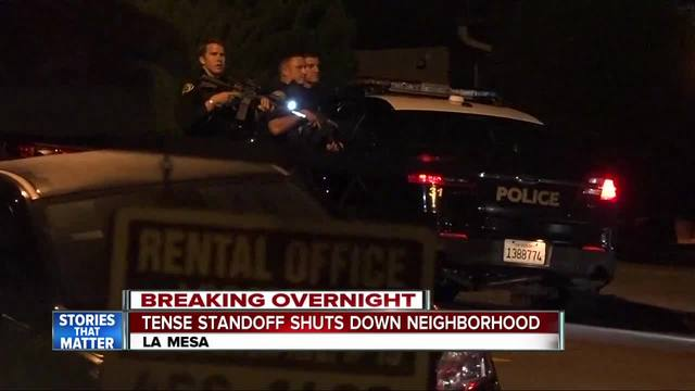 Tense standoff shuts down La Mesa neighborhood