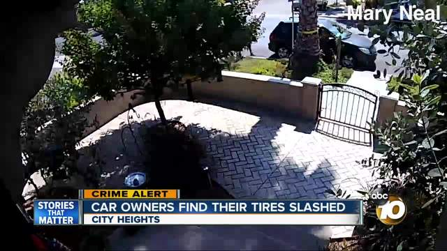 Car owners find their tires slashed