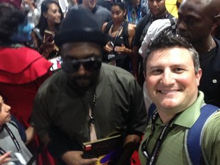 Black Eyed Peas star visits Comic-Con