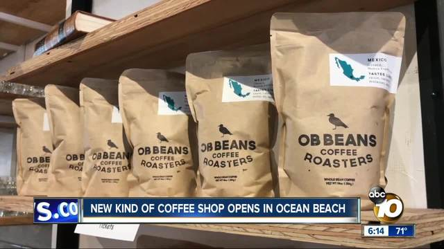 New kind of coffee shop opens in Ocean Beach