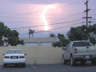 Lightning strikes, rain hit parts of SD County