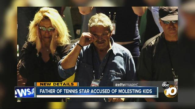 Father of tennis star accused of molesting kids