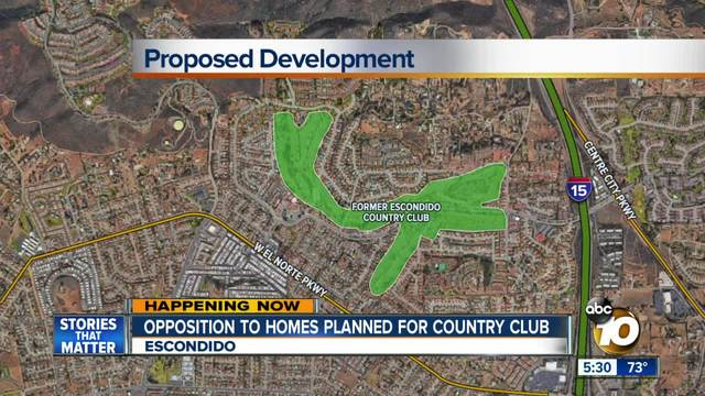 Opposition to homes planned for country club