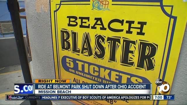 Belmont Park ride closed after Ohio accident
