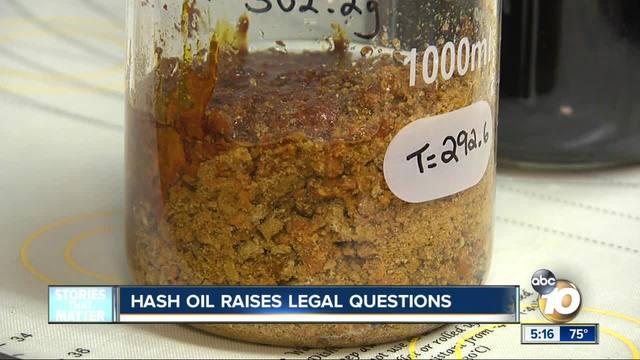 Hash oil raises legal questions