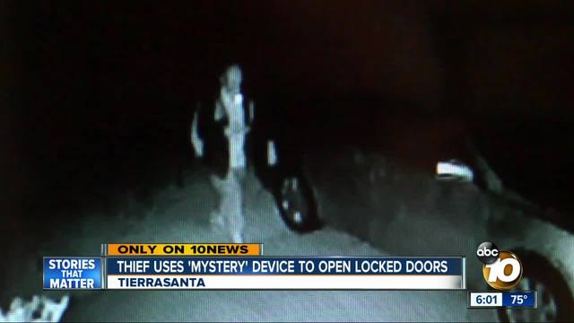 Thief uses mystery device to open locked doors