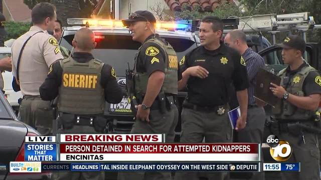 Possible kidnapping suspect detained in Encinitas