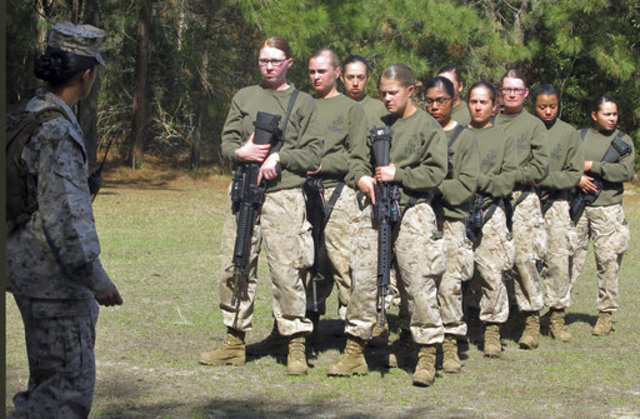 First female Marine graduates from Infantry Officer Course in Virginia