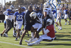 Brawls break out at Chargers, Rams scrimmage
