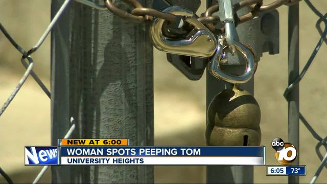 University Heights woman catches a peeping tom outside her window