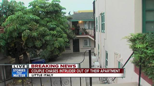 Couple chase intruder out of Little Italy apartment